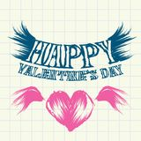 Hand drawn valentine day love beautiful card. Royalty Free Stock Images