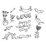 Hand drawn valentine element vector design Royalty Free Stock Image