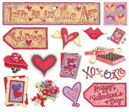 Hand-Drawn Valentine Illustrations Royalty Free Stock Photography