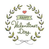 Hand drawn Valentine's Day card Royalty Free Stock Images