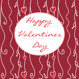 Hand-drawn Valentines Day card Royalty Free Stock Images