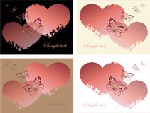 Hand drawn valentines day greeting card. Stock Photography
