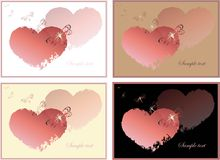 Hand drawn valentines day greeting card. Royalty Free Stock Image
