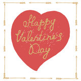 Hand drawn Valentines Day poster Royalty Free Stock Photography