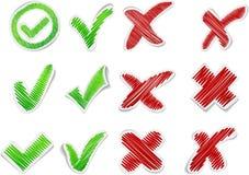Hand drawn validation set. Royalty Free Stock Photos