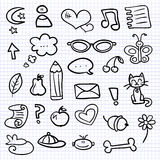 Hand drawn various elements Royalty Free Stock Image