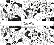 Hand drawn vector. Ink on papoer style with original hand drawn patterns Royalty Free Stock Images
