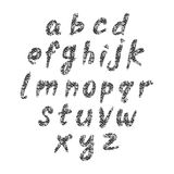 Hand drawn vector abc small letters Stock Image
