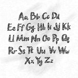 Hand drawn vector abc small letters Royalty Free Stock Images