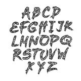 Hand drawn vector abc small letters Stock Photography