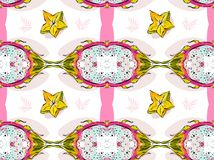 Hand drawn vector abstract artistic seamless pattern Royalty Free Stock Photography
