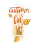 Hand drawn vector abstract autumn illustration Royalty Free Stock Photos