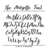 Hand drawn vector alphabet. Calligraphy letters for your design stock illustration