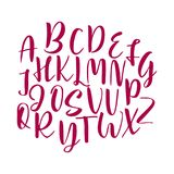 Hand drawn vector alphabet. Calligraphy letters for your design Stock Image