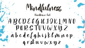 Hand drawn vector alphabet. Calligraphy letters for your design Royalty Free Stock Photos