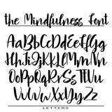 Hand drawn vector alphabet. Calligraphy letters for your design Stock Photos