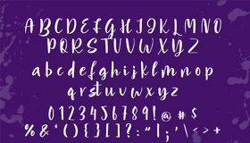 Hand drawn vector alphabet. Calligraphy letters for your design Royalty Free Stock Photography