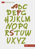 Hand-drawn vector alphabet vector illustration