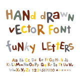 Hand-drawn vector alphabet. funky letters font Royalty Free Stock Photography