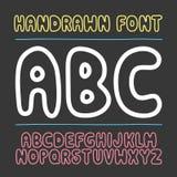 Hand drawn vector alphabet Royalty Free Stock Photo