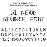 Hand drawn vector alphabet Royalty Free Stock Photos