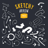 Hand drawn vector arrow set. Stock Image