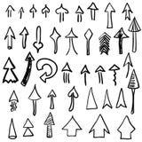 Hand Drawn Vector Arrows, Design Elements Set Royalty Free Stock Photo