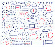 Hand drawn vector arrows set. Handcrafted elements. Handcrafted elements. Hand drawn vector arrows set Royalty Free Stock Photo