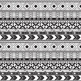 Hand drawn vector boho seamless pattern Stock Images