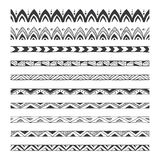 Hand drawn vector borders, design elements Royalty Free Stock Photos