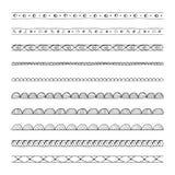 Hand drawn vector borders, design elements Stock Photo