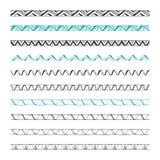 Hand drawn vector borders, design elements Royalty Free Stock Photo