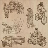 Transport, Transportation around the World - An hand drawn vecto Stock Photography