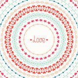 Hand drawn vector colorful line border, frame set Royalty Free Stock Photography