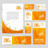 Hand drawn vector corporate template set with Stock Photo