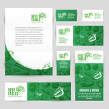 Hand drawn vector corporate template set with Royalty Free Stock Photography