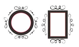 Hand drawn vector decorative frames  on white Royalty Free Stock Photography