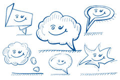 Hand drawn vector design elements: speech bubbles Royalty Free Stock Photography