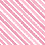 Hand drawn vector diagonal grunge stripes of bright pink colors seamless pattern on the white background Royalty Free Stock Image