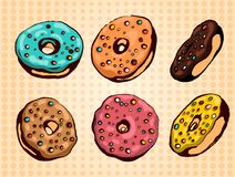 Donuts set stock illustration