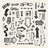 Hand drawn vector doodle arrow collection isolated Royalty Free Stock Photo