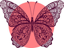 Hand drawn vector doodle butterfly illustration Royalty Free Stock Image