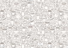 Hand drawn vector doodle set coffee. Vector Royalty Free Stock Photography