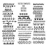 Vector brushes templates set. Make a brush with this template. royalty free illustration