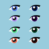 Hand drawn vector eye. Flat. Illustration of a female eye. Make up Stock Image