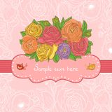 Hand drawn Vector floral frame Royalty Free Stock Image