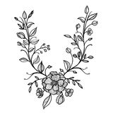 Hand drawn vector floral frame Royalty Free Stock Photos