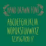 Hand drawn vector font Stock Photos