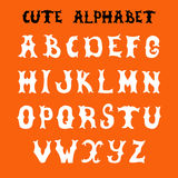 Hand drawn vector font. Sketch style alphabet Royalty Free Stock Image
