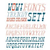 Hand drawn vector font Royalty Free Stock Image